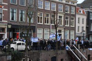 Holland zsidók és cionisták tüntettek a Zöld Baloldal ellen
