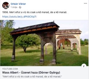 Orbán Viktor Wass Albert idézettel emlékezik 1956-ra
