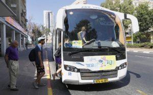 Itt az ingyenes sábeszi tömegközlekedés Tel Avivban