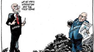 Netanjahut vizionálja Corbyn antiszemita vádjai mögött egy holland karikatúra