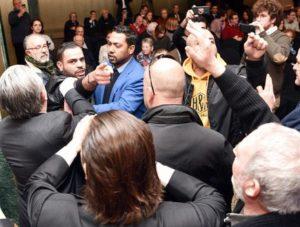 A BDS-mozgalom aktivistái zsidókból és arabokból álló delegációt provokáltak Madridban