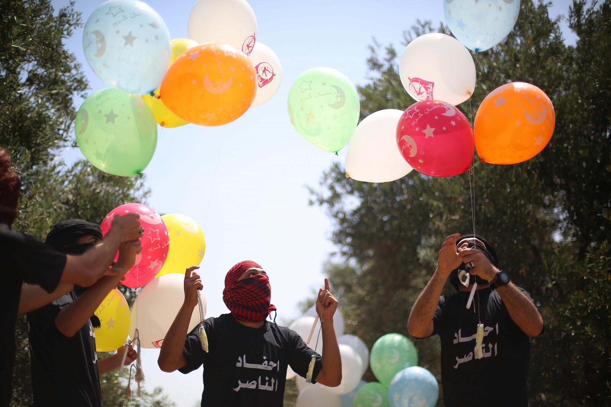 Leállnak a lufibombákkal a gázai terrorcsoportok