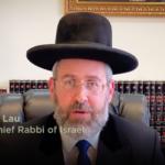 Videóüzenetet küldött az askenáz főrabbi a karantén-széderező zsidóságnak