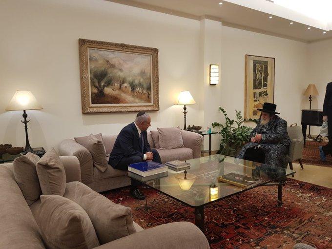 Netanjahu a vizsnyici haszid udvar vezetőjét fogadta