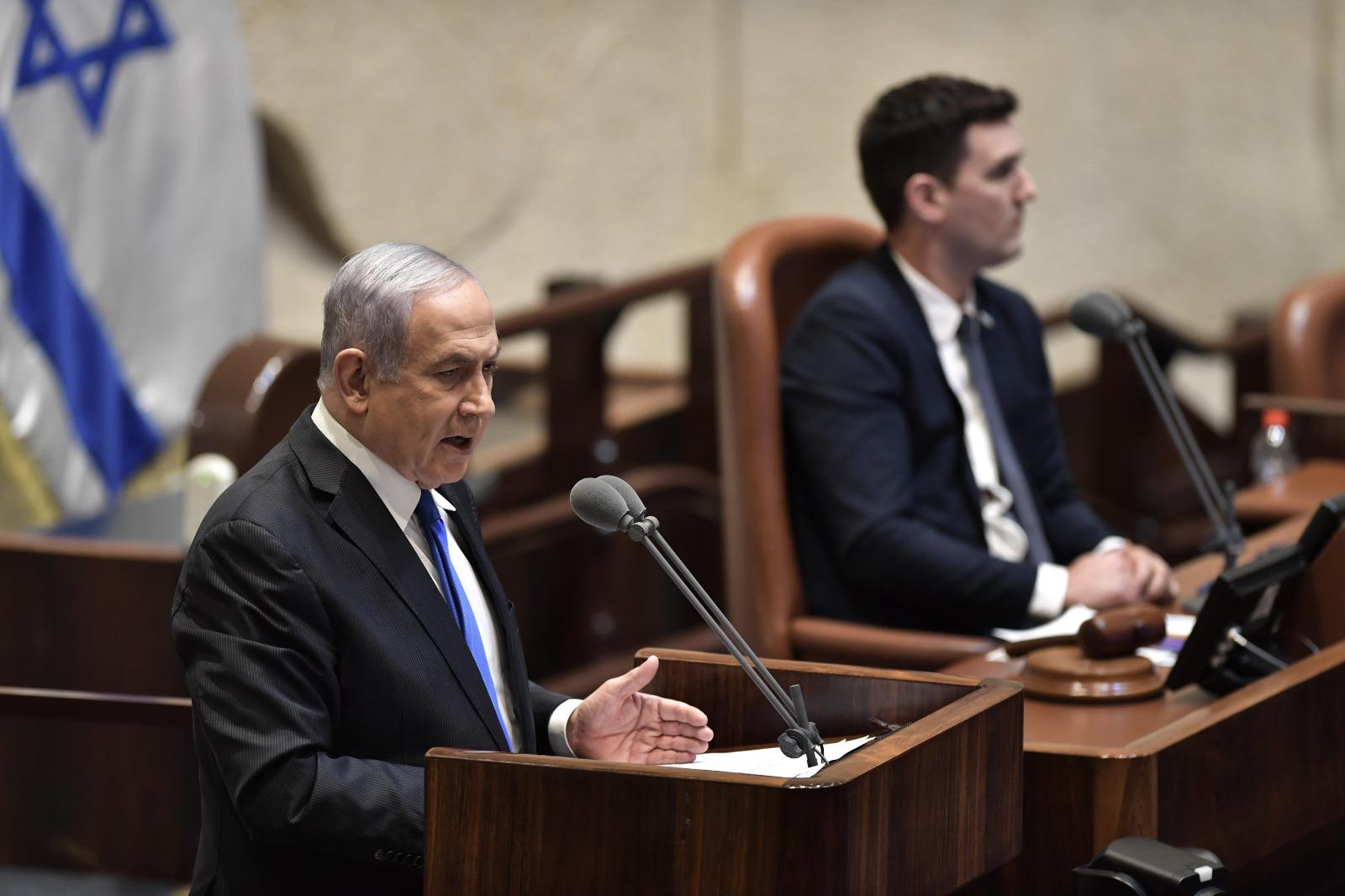 Netanjahu bemutatta vadiúj egységkormányát a Knesszetben