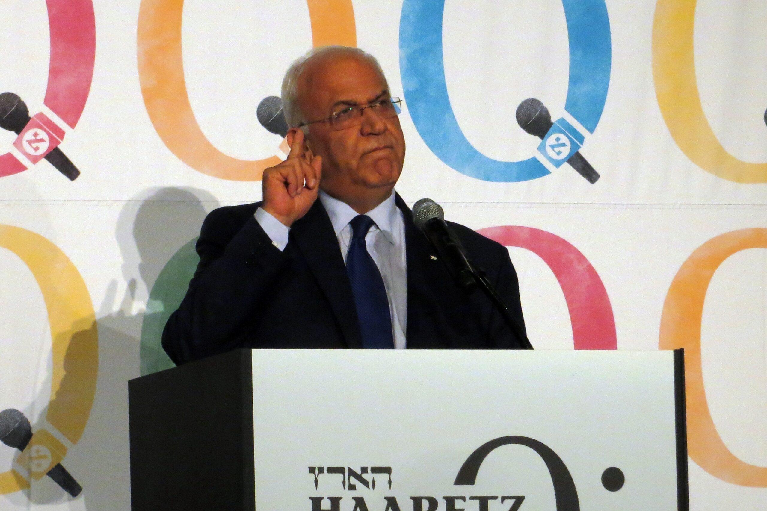 """Saeb Erekat: """"Az Emírségek és Izrael közötti béke akadálya a kétállami megoldásnak!"""""""