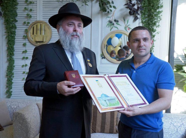Először kapta rabbi a rangos ukrán kitüntetést