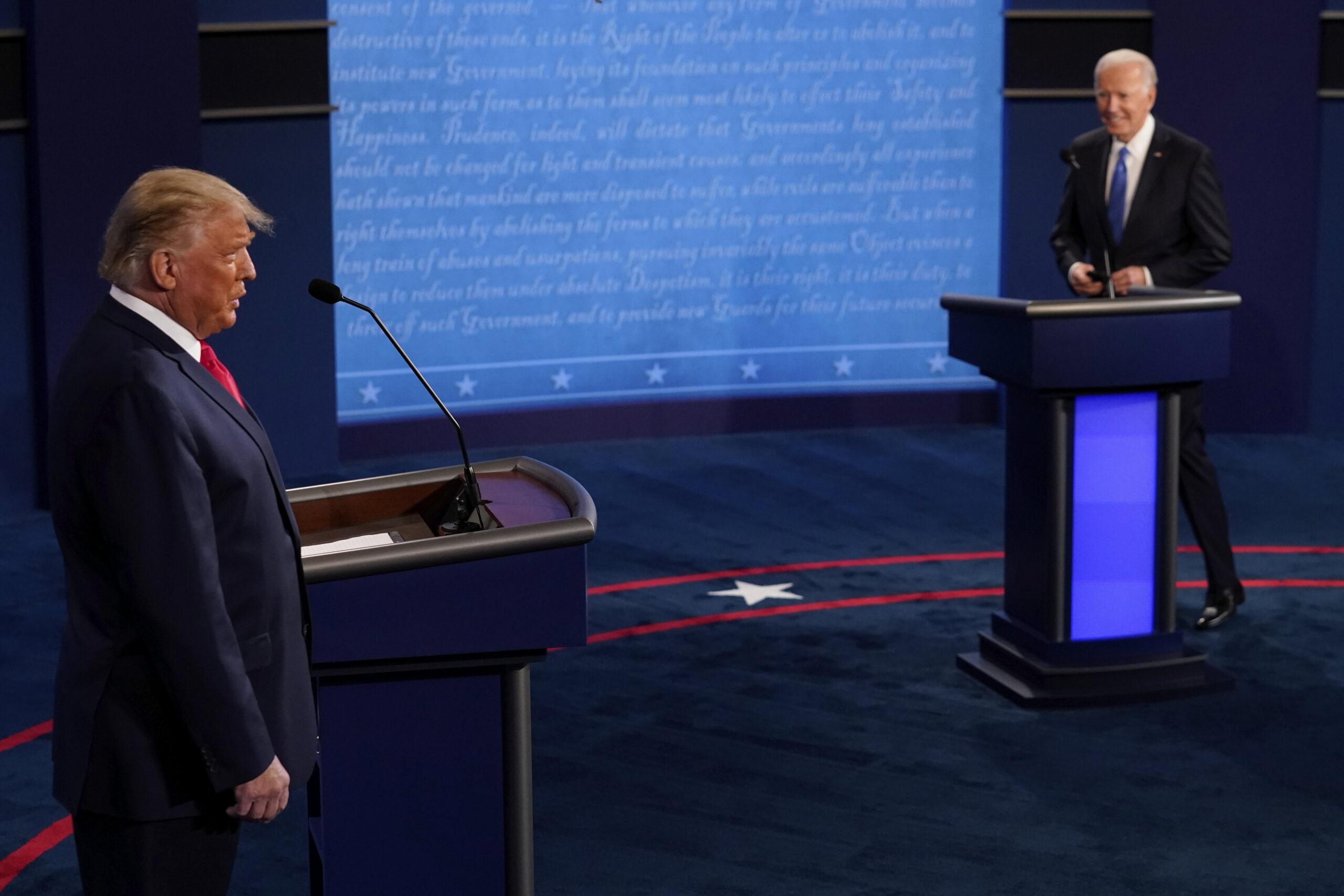Az utolsó vita az Egyesült Államokban: Trump elnök szeretne maradni
