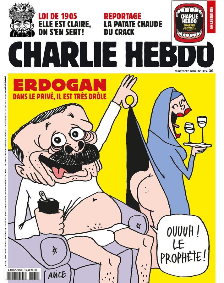 Erdogan nagyon felhúzta magát a Charlie Hebdo legfrissebb címlapján