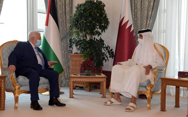 Abbász Katarból a választások megtartásáról győzködi a Hámászt