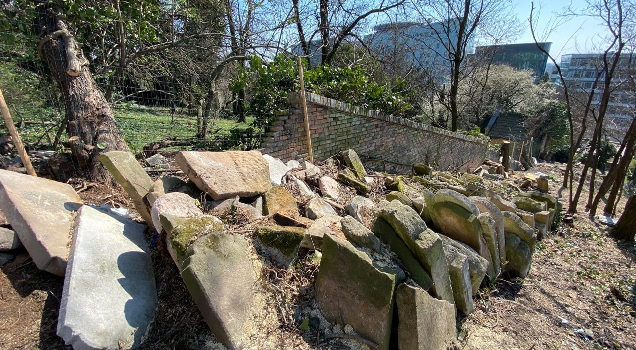 Több száz zsidó sírkő került elő a pozsonyi susnyásból