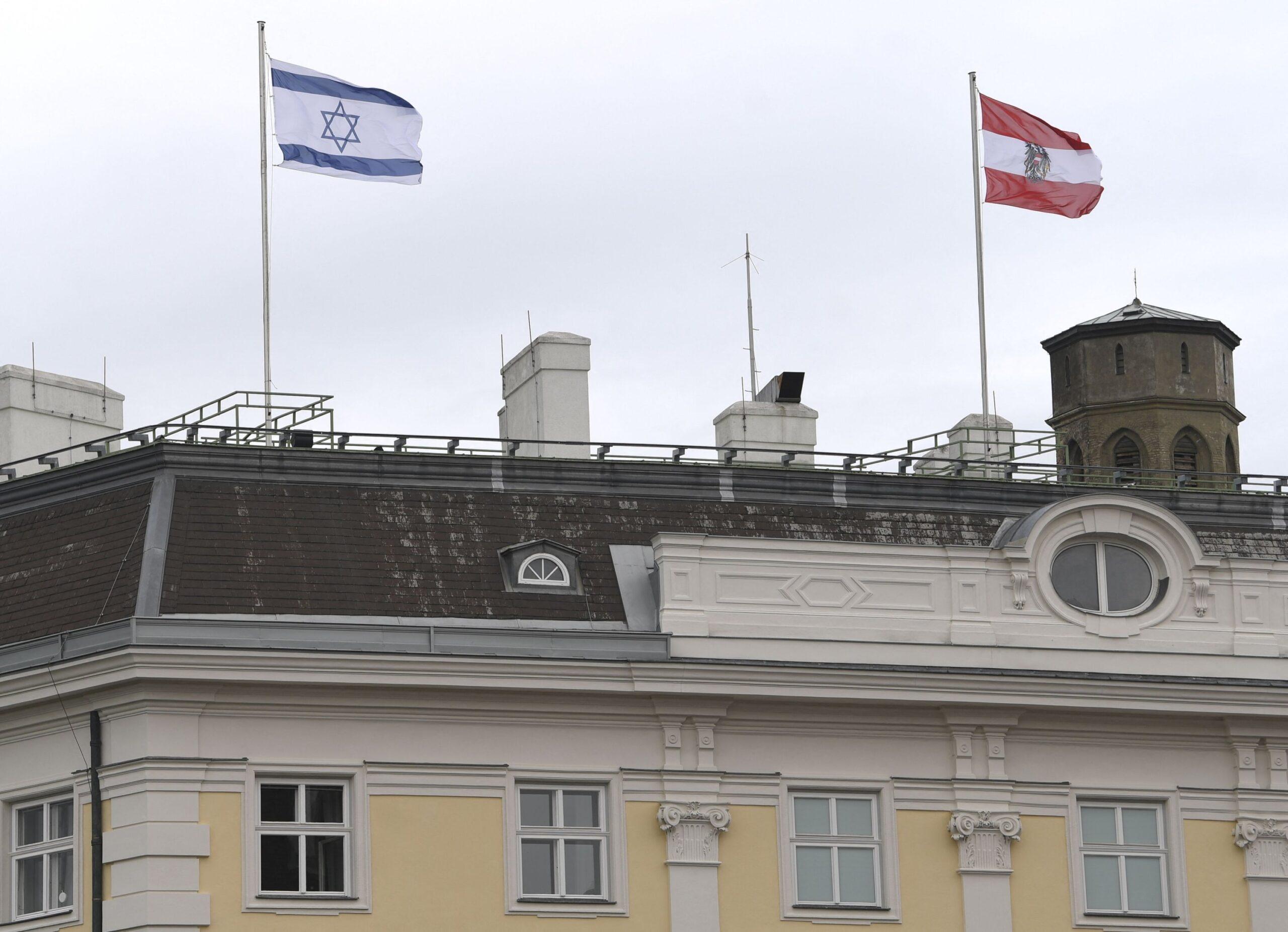 Berágtak az arab országok, hogy izraeli zászlót tettek ki osztrák kormányzati épületekre