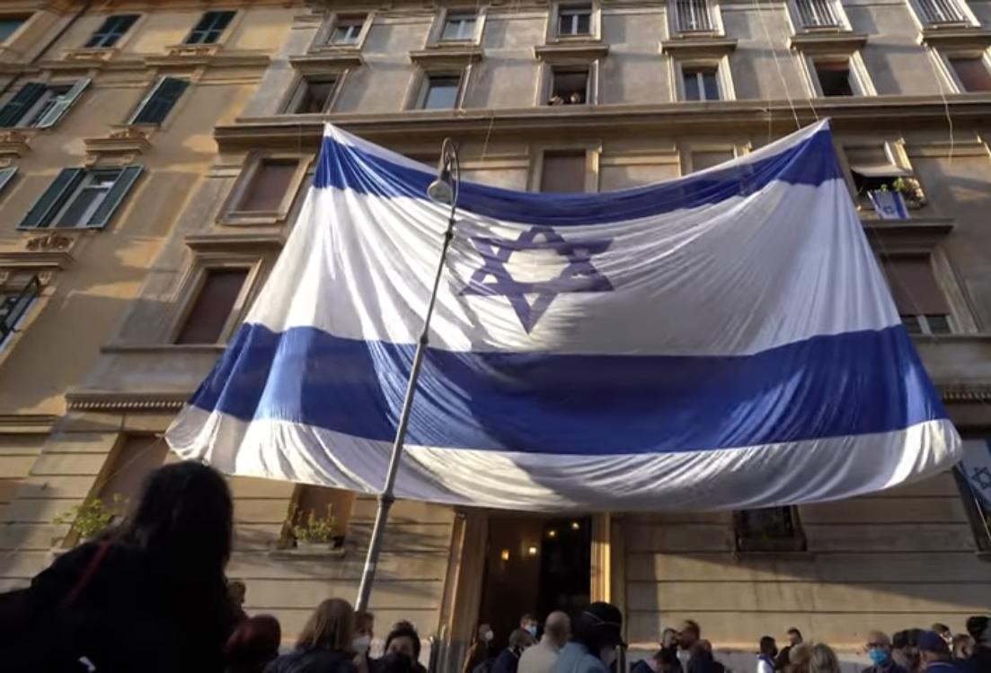 """""""Izrael mellett állunk"""" — Több ezren tüntettek New Yorkban és Rómában"""