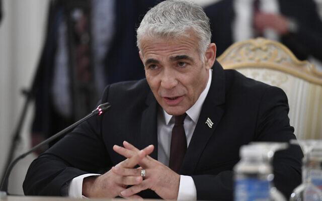 Lapid: a kormány nem fogja örökre elhanyagolni a palesztin kérdést