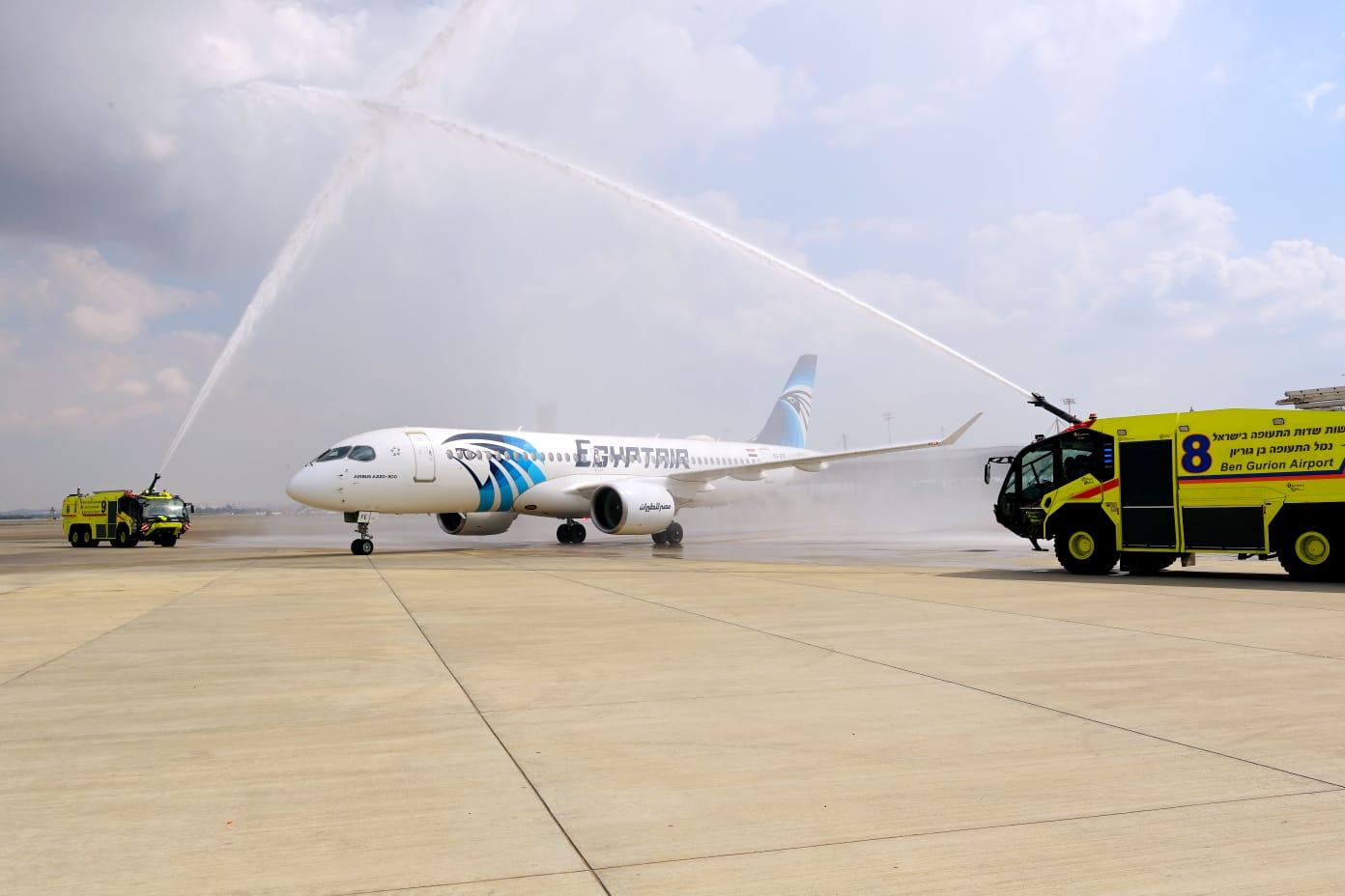 Sikeresen landolt a Ben Gurionon az EgyptAir első Kairó-Tel-Aviv járata
